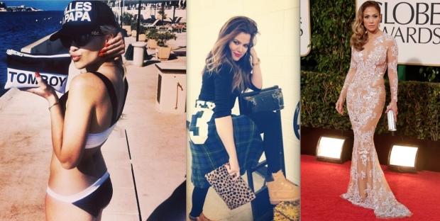 R-L: Rita Ora, Khloe Kardashian, Jennifer Lopez