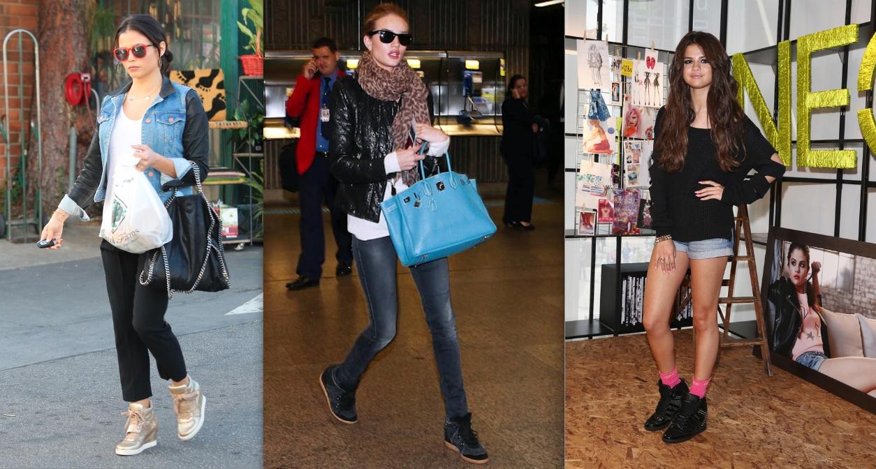 celebrities wearing wedge sneakers