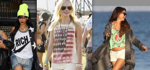 (Left-Right: Rihanna, Kate Bosworth, Selena Gomez)