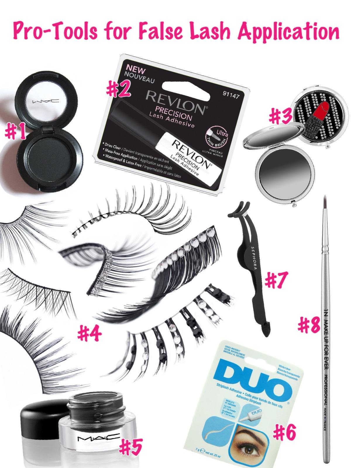 f8abd672b49 falselashapp. #1 M.A.C. Eyeshadow: Carbon $15 / #2 Revlon Precision Lash  Adhesive ...