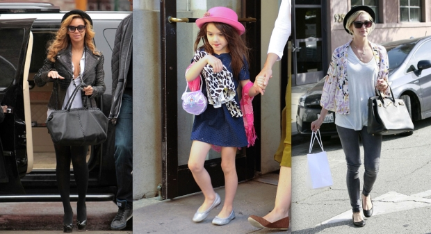 (From R - L: Beyoncé, Suri Cruise, Ashlee Simpson)