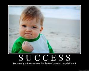 success feels good!