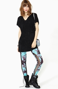 Nasty Gal Cosmic Crush Leggings $42