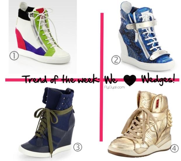 luxury wedge sneakers