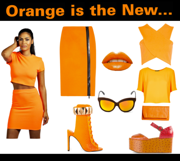 Orange dance fashion
